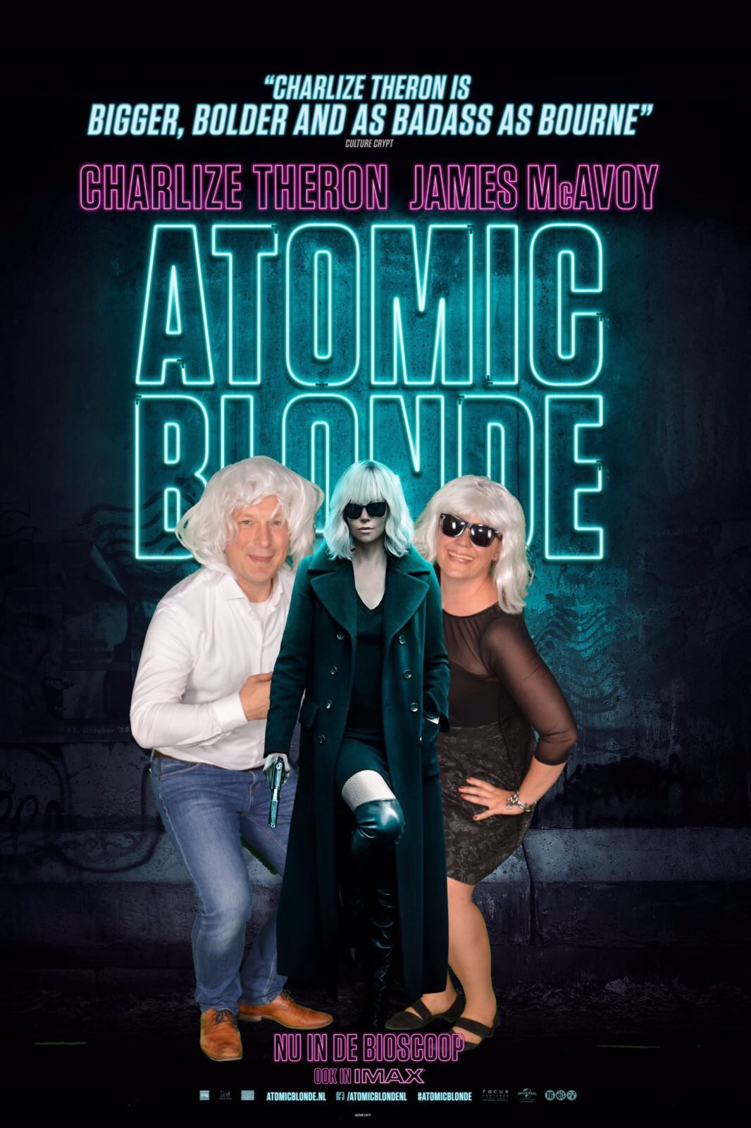 atomic, blonde film premiere universal imax amsterdam