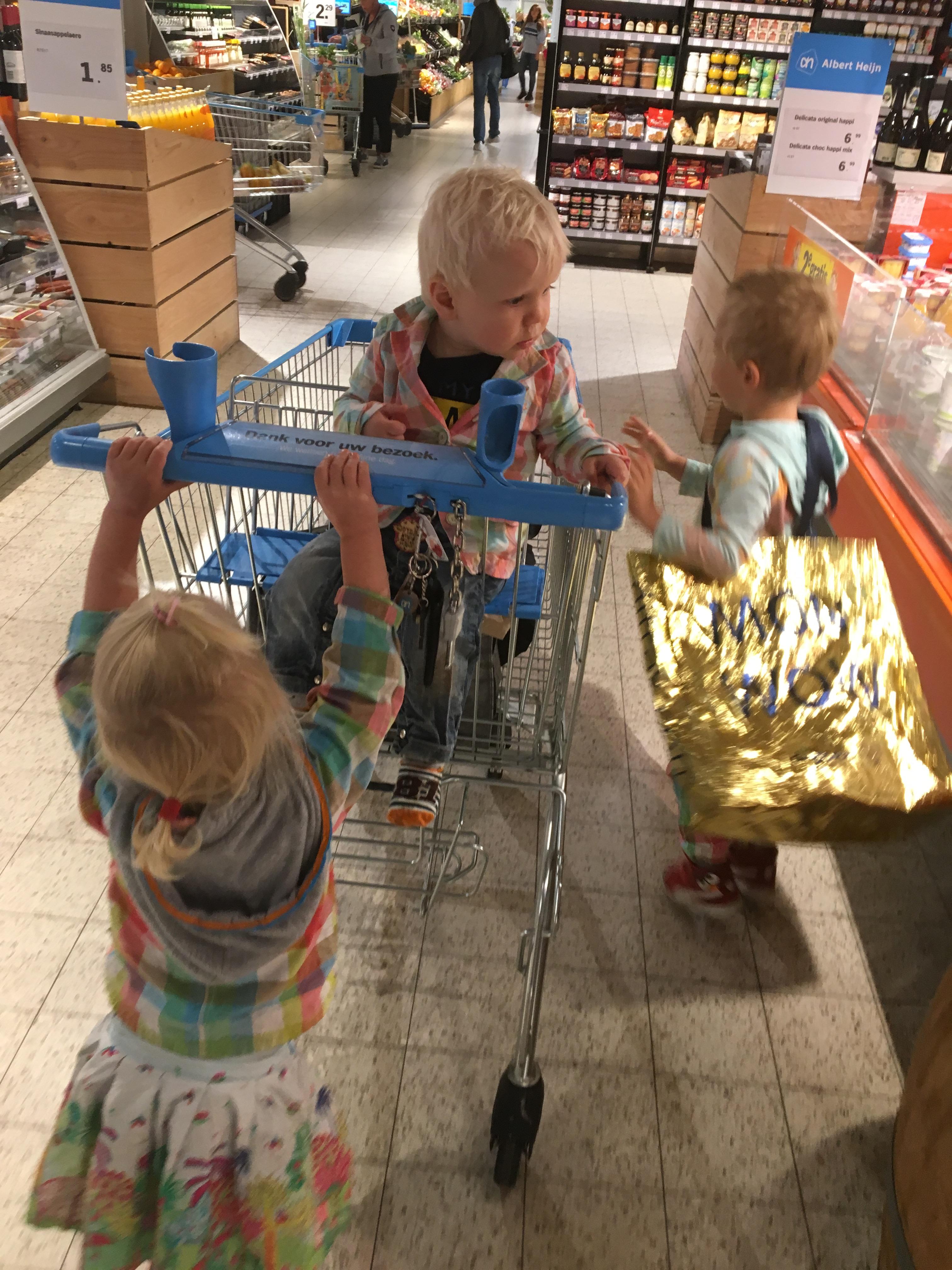 supermarkt , vrede en harmonie huishoudelijke taken