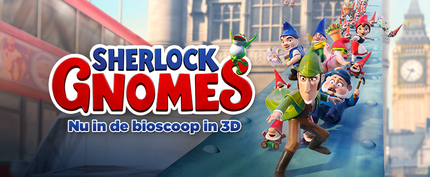 SHERLOCK GNOMES met onze favoriet GNOMEO AND JULIET zijn terug en draait nu in de bioscoop