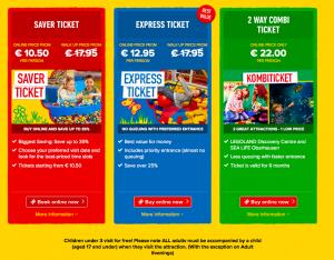 Legoland Discovery Centre tickets Sealife oberhausen