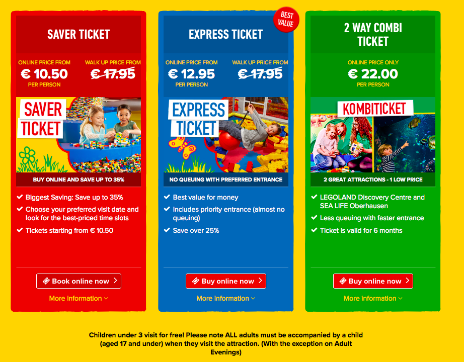 legoland tickets Sealife oberhausen