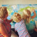 wereldkaart weekoverzicht alleen op vakantie