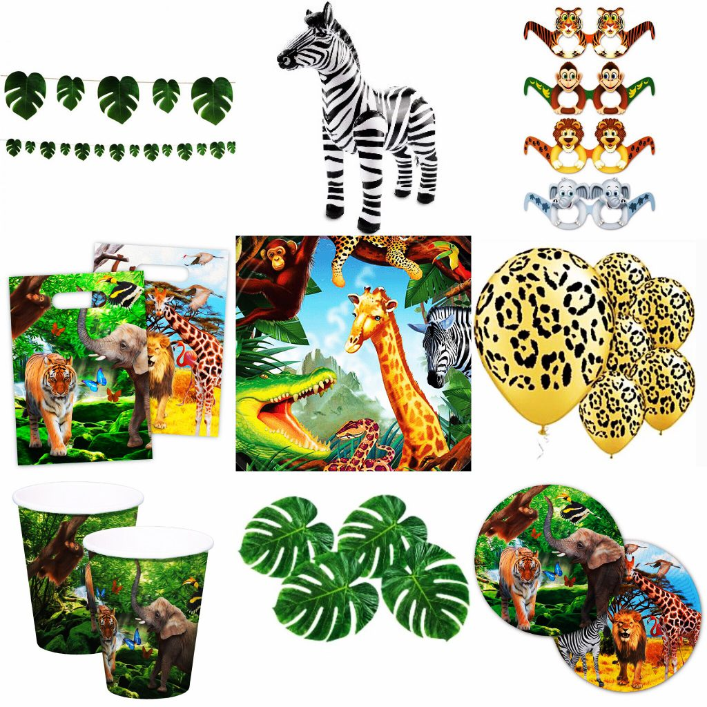 ae9b7acee876ba Jungle feestje met feestartikelen waar jong en oud blij van wordt