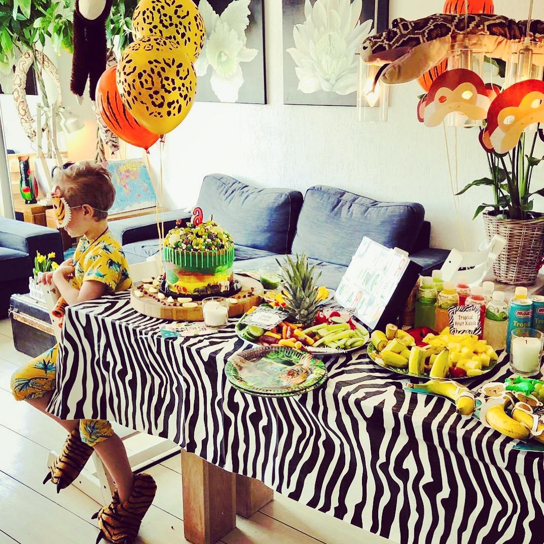 jungle feest, feestartikelen, kinderfeestje