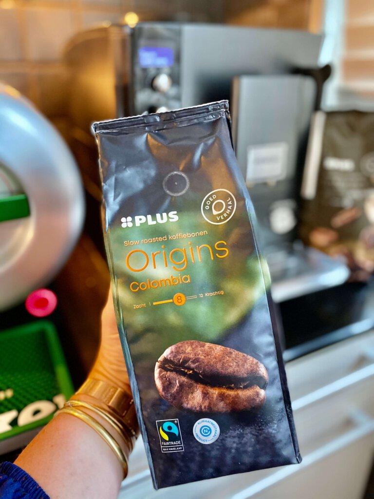 koffie, bonen, plus, huismerk, hoe drink jij je koffie