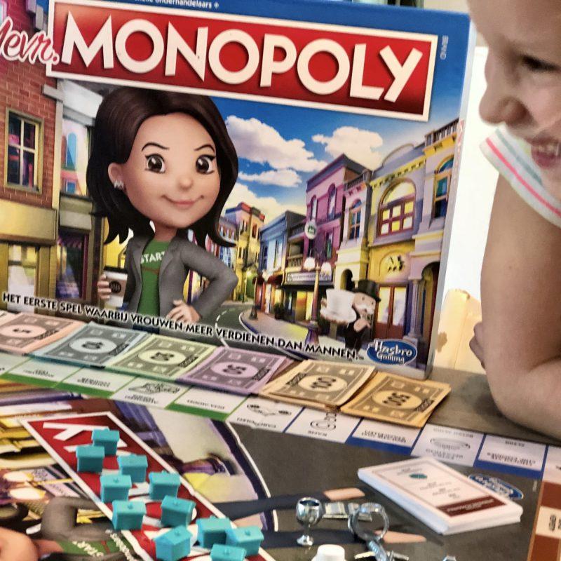 Met het bordspel Mevr. Monopoly verdienen vrouwen meer dan mannen! Een spel voor ondernemende vrouwen (en meisjes)