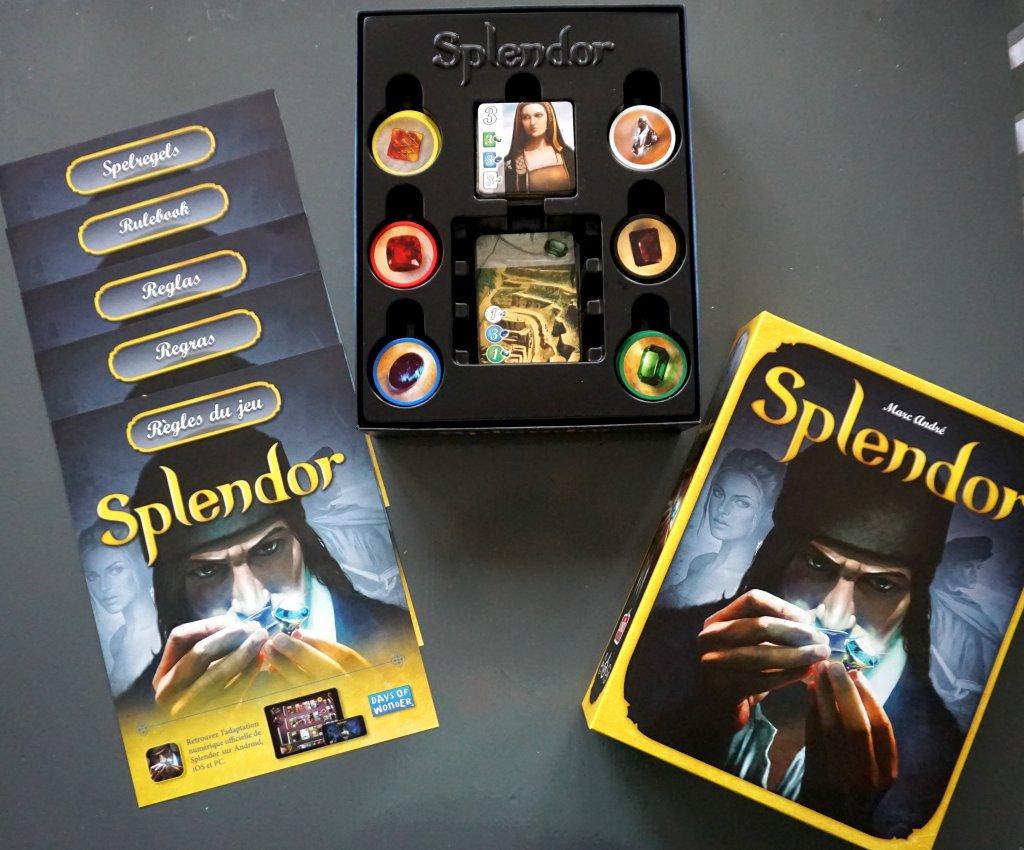 Splendor bordspel inhoud doos