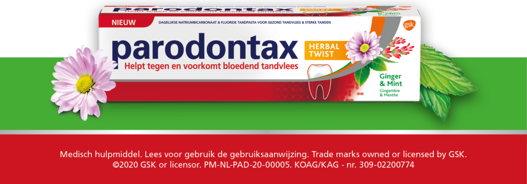 Parodontax, tandpasta, herbal, kruiden