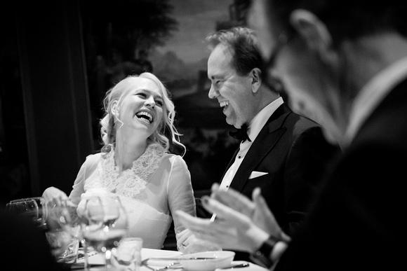 bruiloft lachen