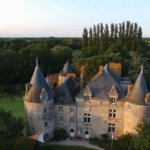 Koninklijk verblijf op  'Chateau de la Preuille'