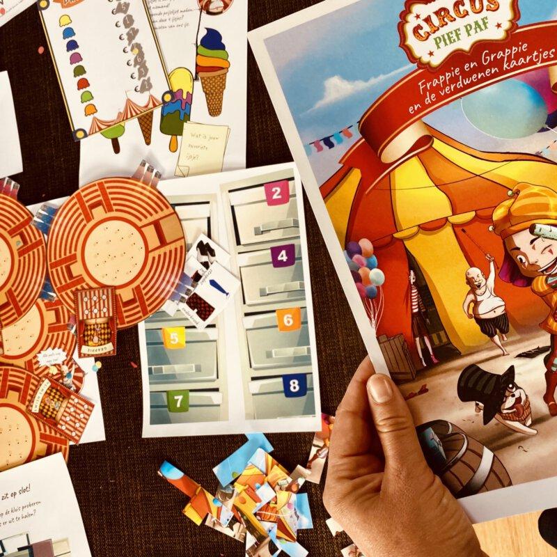 Met het escaperoom spel Circus Pief Paf beleven we samen onvergetelijke avonturen
