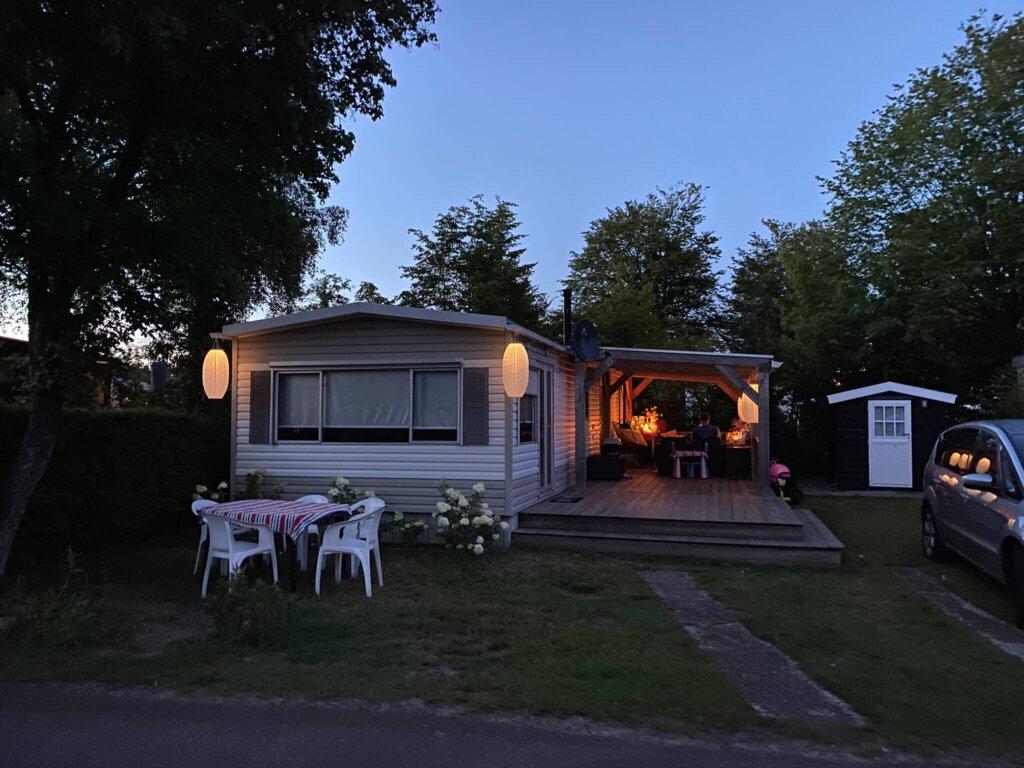 veranda, buiten, vakantiehuisje