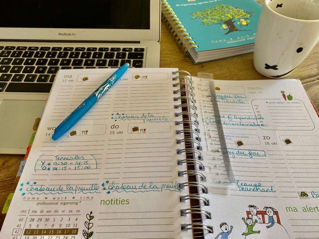 agenda, planing, home work life