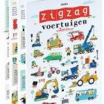 zigzag, voertuigen, boek, Lannoo