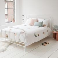 Snurk, beddengoed, palmbomen, slaapkamer