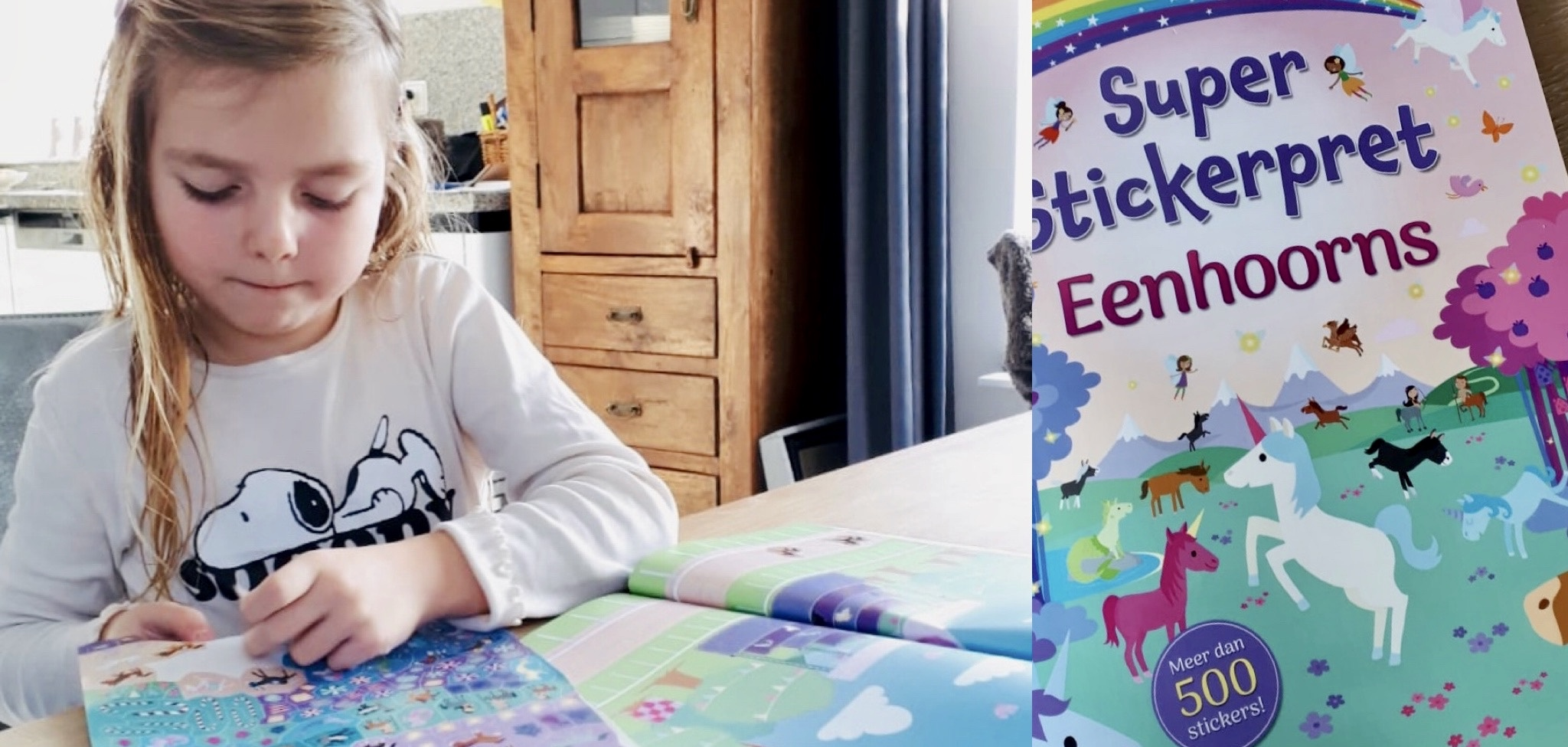 stabilo, vliegen met kinderen, klmbedritueel, eenhoorn, stickerboek