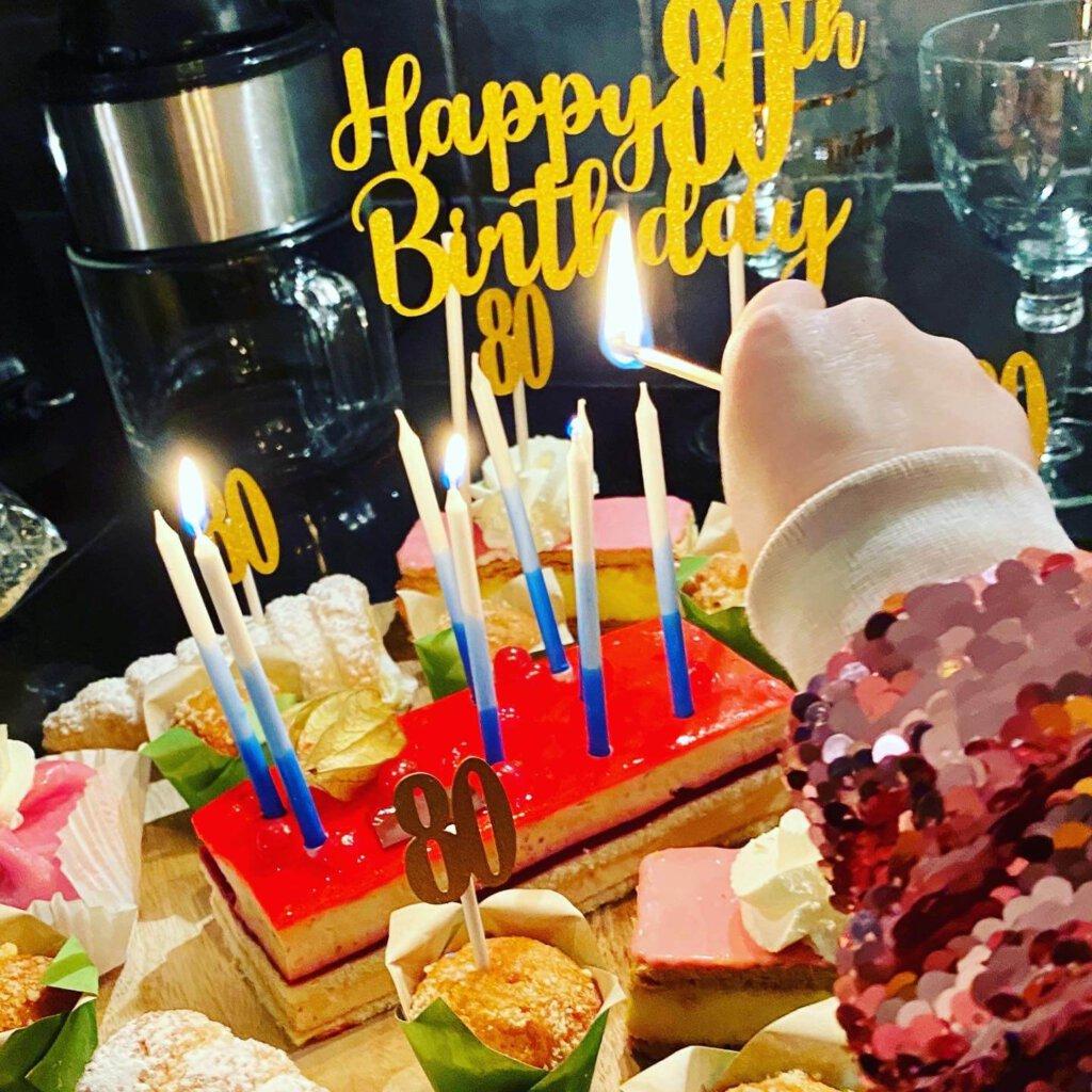 lofzangers, 80 jaar, 80e verjaardag, verrassing, surprise