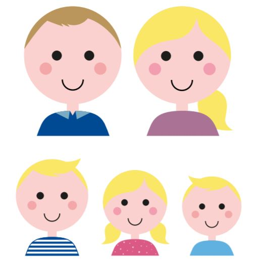 familieportret, foto aan de muur, canvas, wandbekleding