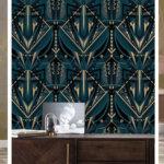 design, Gouden metallic behang, KEK AMSTERDAM, vliesbehang, KEK