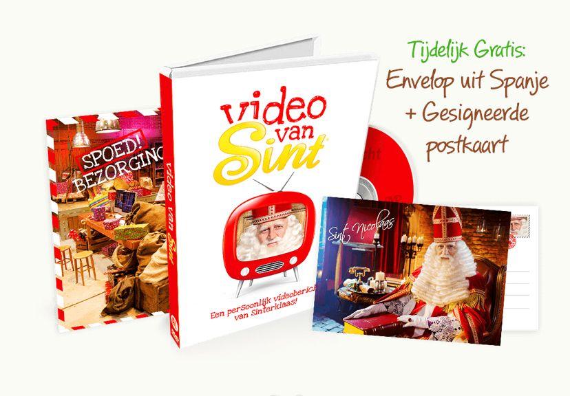Persoonlijke videoboodschap van Sinterklaas bestel je bij 'Video van Sint'